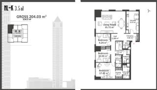 Istanbul Apartments with Wide Windows in Sisli, Property Plans-6