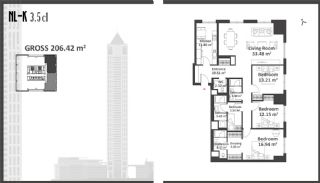 Istanbul Apartments with Wide Windows in Sisli, Property Plans-7