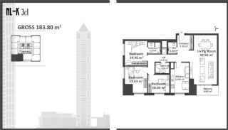 Istanbul Apartments with Wide Windows in Sisli, Property Plans-8