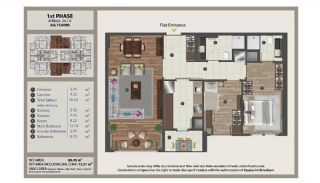 Istanbul Flats in Residential and Commercial Complex, Property Plans-1