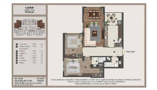Istanbul Flats in Residential and Commercial Complex, Property Plans-5
