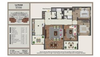 Istanbul Flats in Residential and Commercial Complex, Property Plans-8