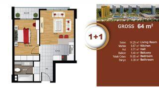 Квартиры с Видом на Море и Озеро в Престижном Районе Стамбула, Планировка -1