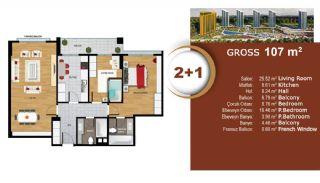 Квартиры с Видом на Море и Озеро в Престижном Районе Стамбула, Планировка -3