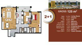 Квартиры с Видом на Море и Озеро в Престижном Районе Стамбула, Планировка -4