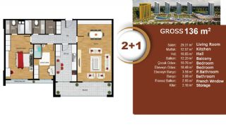 Квартиры с Видом на Море и Озеро в Престижном Районе Стамбула, Планировка -5