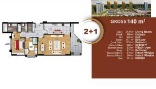 Квартиры с Видом на Море и Озеро в Престижном Районе Стамбула, Планировка -6