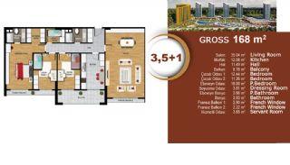 Квартиры с Видом на Море и Озеро в Престижном Районе Стамбула, Планировка -8