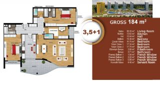 Квартиры с Видом на Море и Озеро в Престижном Районе Стамбула, Планировка -9