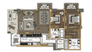 Cozy Apartments in the New Coastal District of Istanbul, Property Plans-3