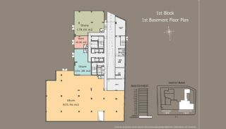 Квартиры в Центре Стамбула с Инвестиционными Возможностями, Планировка -1
