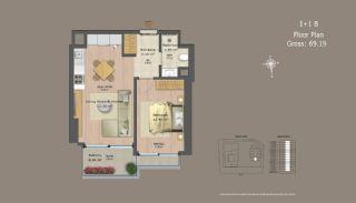 Квартиры в Центре Стамбула с Инвестиционными Возможностями, Планировка -9