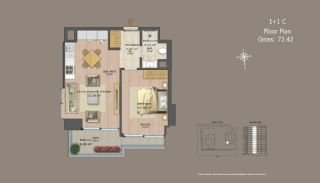 Central Istanbul Flats with Investment Opportunity, Property Plans-10