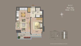 Квартиры в Центре Стамбула с Инвестиционными Возможностями, Планировка -10