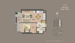 Квартиры в Центре Стамбула с Инвестиционными Возможностями, Планировка -11