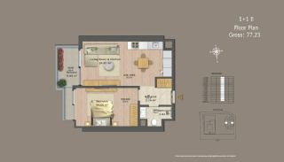 Central Istanbul Flats with Investment Opportunity, Property Plans-12