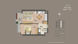 Квартиры в Центре Стамбула с Инвестиционными Возможностями, Планировка -12