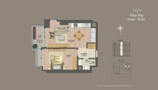 Central Istanbul Flats with Investment Opportunity, Property Plans-13