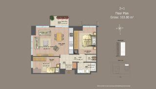 Centrala Istanbul Lägenheter med Investerings Möjlighet, Planritningar-14