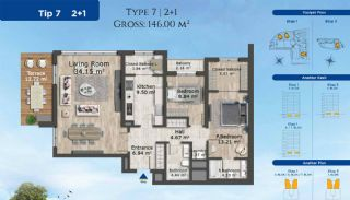 Istanbul Apartments Designed with Modern Architecture, Property Plans-1