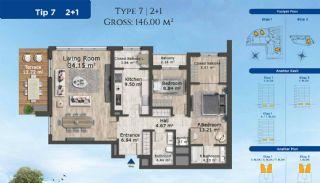 Istanbul Lägenheter Designad med Modern Arkitektur, Planritningar-1