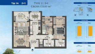 Istanbul Lägenheter Designad med Modern Arkitektur, Planritningar-2
