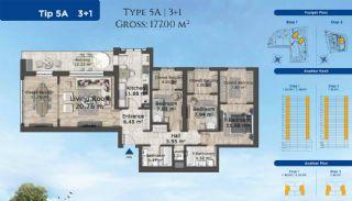 Istanbul Lägenheter Designad med Modern Arkitektur, Planritningar-3
