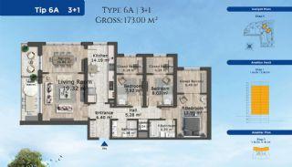 Istanbul Lägenheter Designad med Modern Arkitektur, Planritningar-4