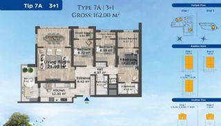 Istanbul Lägenheter Designad med Modern Arkitektur, Planritningar-5