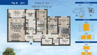 Istanbul Lägenheter Designad med Modern Arkitektur, Planritningar-6