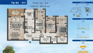 Istanbul Lägenheter Designad med Modern Arkitektur, Planritningar-7