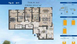 Istanbul Lägenheter Designad med Modern Arkitektur, Planritningar-8