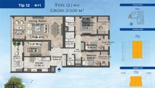 Istanbul Lägenheter Designad med Modern Arkitektur, Planritningar-10