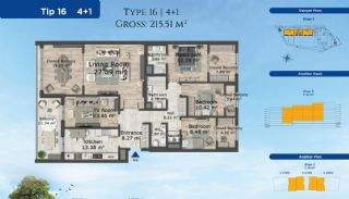 Istanbul Lägenheter Designad med Modern Arkitektur, Planritningar-11