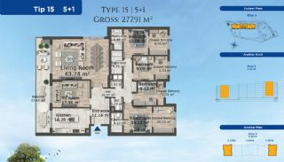 Istanbul Lägenheter Designad med Modern Arkitektur, Planritningar-12