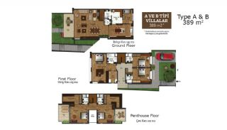 Key Ready Houses with Private Garden in Istanbul, Property Plans-2