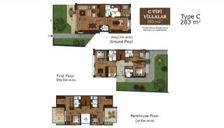 Key Ready Houses with Private Garden in Istanbul, Property Plans-3