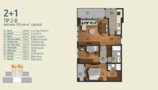 Stylish Apartments with Exceptional Location in Istanbul, Property Plans-3