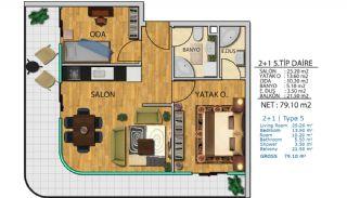 100% uthyrning garanterad havsutsikt lägenheter i Istanbul, Planritningar-6