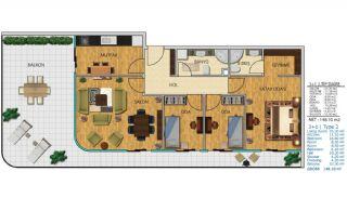 100% uthyrning garanterad havsutsikt lägenheter i Istanbul, Planritningar-8