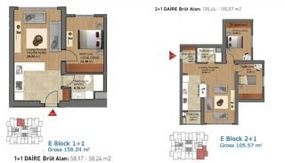 Ready Apartments in Istanbul with Rich Infrastructure, Property Plans-7