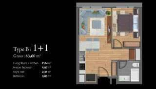 Istanbul Apartments Next to the TEM and Basin Express, Property Plans-2