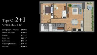 Istanbul Apartments Next to the TEM and Basin Express, Property Plans-3