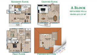 Beylikdüzü'nde Sahil Kasabası Konforunda Villalar, Kat Planları-2