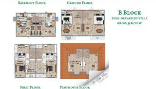 Beylikdüzü'nde Sahil Kasabası Konforunda Villalar, Kat Planları-3