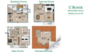 Beylikdüzü'nde Sahil Kasabası Konforunda Villalar, Kat Planları-4