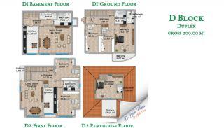 Beylikdüzü'nde Sahil Kasabası Konforunda Villalar, Kat Planları-5
