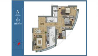 Centraal Gelegen Slimme Appartementen in Kadikoy Istanbul, Vloer Plannen-1