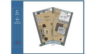Centralt Belägna Smarta Lägenheter i Kadikoy Istanbul, Planritningar-3