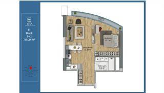 Centraal Gelegen Slimme Appartementen in Kadikoy Istanbul, Vloer Plannen-5